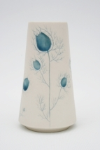 Blue Silhouette Love in the Mist vase