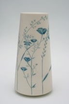 Blue Wildflower vase