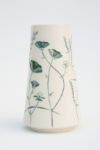 Green Wildflower Vase