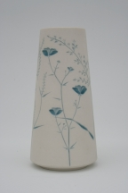 Dark Blue Wildflower Vase